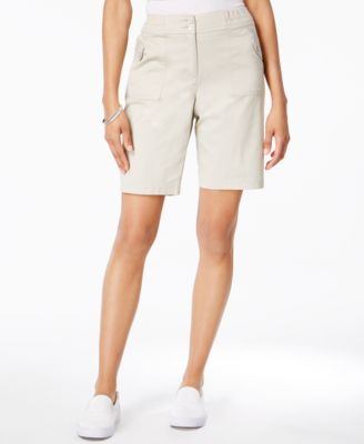 Karen Scott Ribbed-Waistband Bermuda Shorts #424 size 18