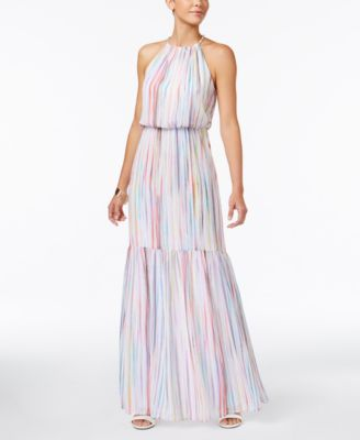 Thalia Sodi Striped Blouson Maxi Dress #620 size L