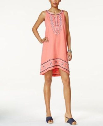 Style & Co Embroidered High-Low Dress #599 size M