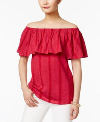 Style & Co Ruffled Off-The-Shoulder Top #665 size XL