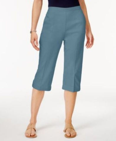 Alfred Dunner Blue Lagoon Capri Pants #252 size 10