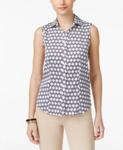 Charter Club Sleeveless Print Shirt #684 size 12