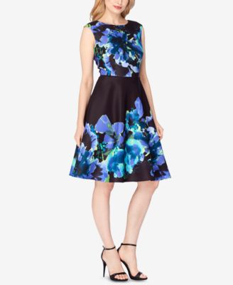 Tahari Asl Floral-Jacquard Fit & Flare Dress #201 size 4