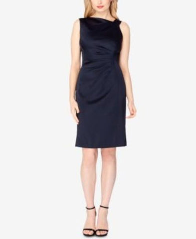 Tahari Asl Asymmetric Satin Sheath Dress #204 size 2