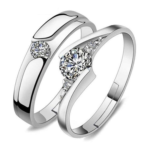 96 X Cubic Zirconia Rings for His and Hers