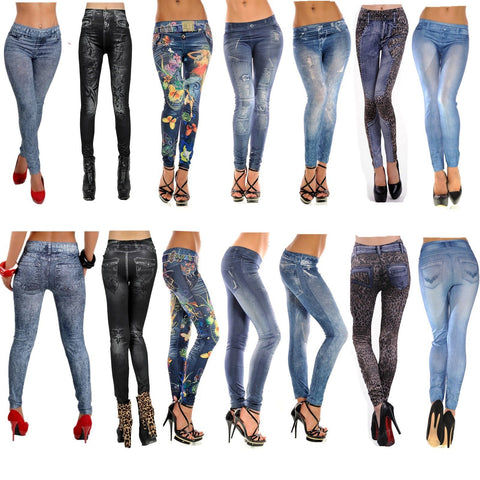 60 X Pair Brand New Jeans-Pattern Leggings