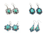 72 X Fashion Turquoise Earrings. Imitation Jewlry