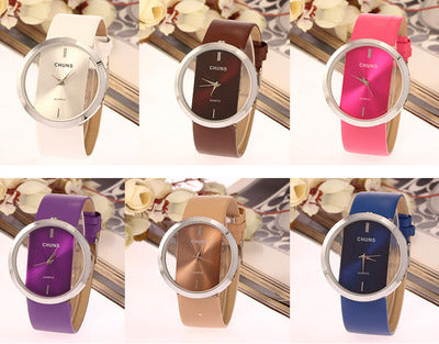 36 X Clear Glass Fashion Watch