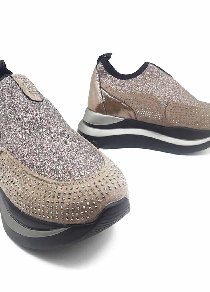 Γυναικεία Sneakers Double Strass