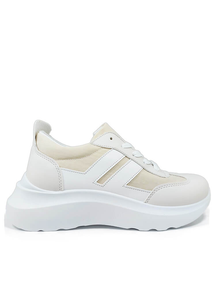 Sneakers Beige White