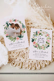 Blush Floral Photo Save the Date Template