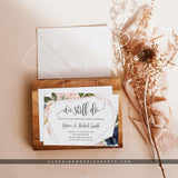 Navy & Blush Vow Renewal Invitation Template