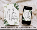 Eucalyptus Greenery Vow Renewal Invitation Template