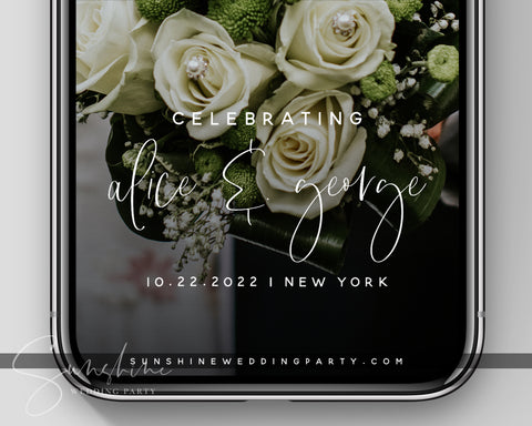 Snapchat Wedding Filter Template #WF001