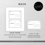 POSTPONED WEDDING DATE POSTCARD TEMPLATE