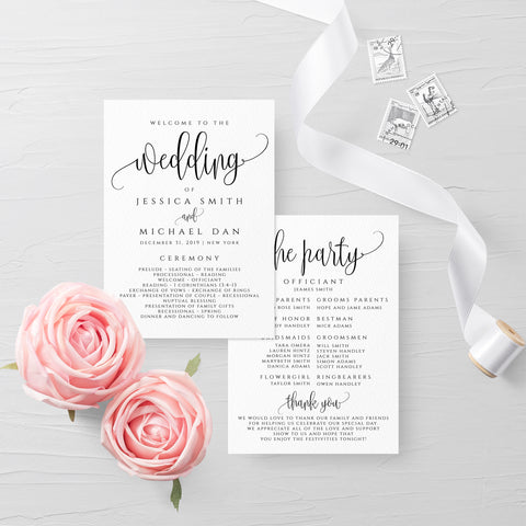 Wedding Rustic Program Template