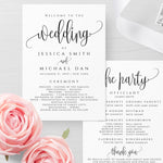 Rustic Wedding Program Template