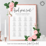 Rustic Wedding Seating Chart Template