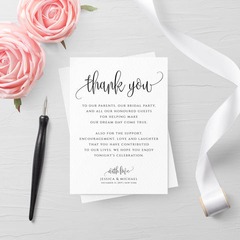 Wedding Rustic Thank You Card Template
