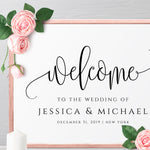 Rustic Wedding Welcome Sign Template