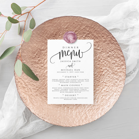 Wedding Rustic Menu Template