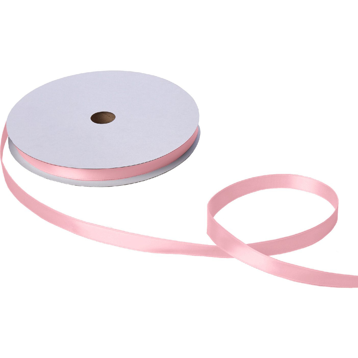 "Jillson & Roberts Double-Faced Satin Ribbon, 5/8"" Wide x 100 Yards, Pastel Pink"