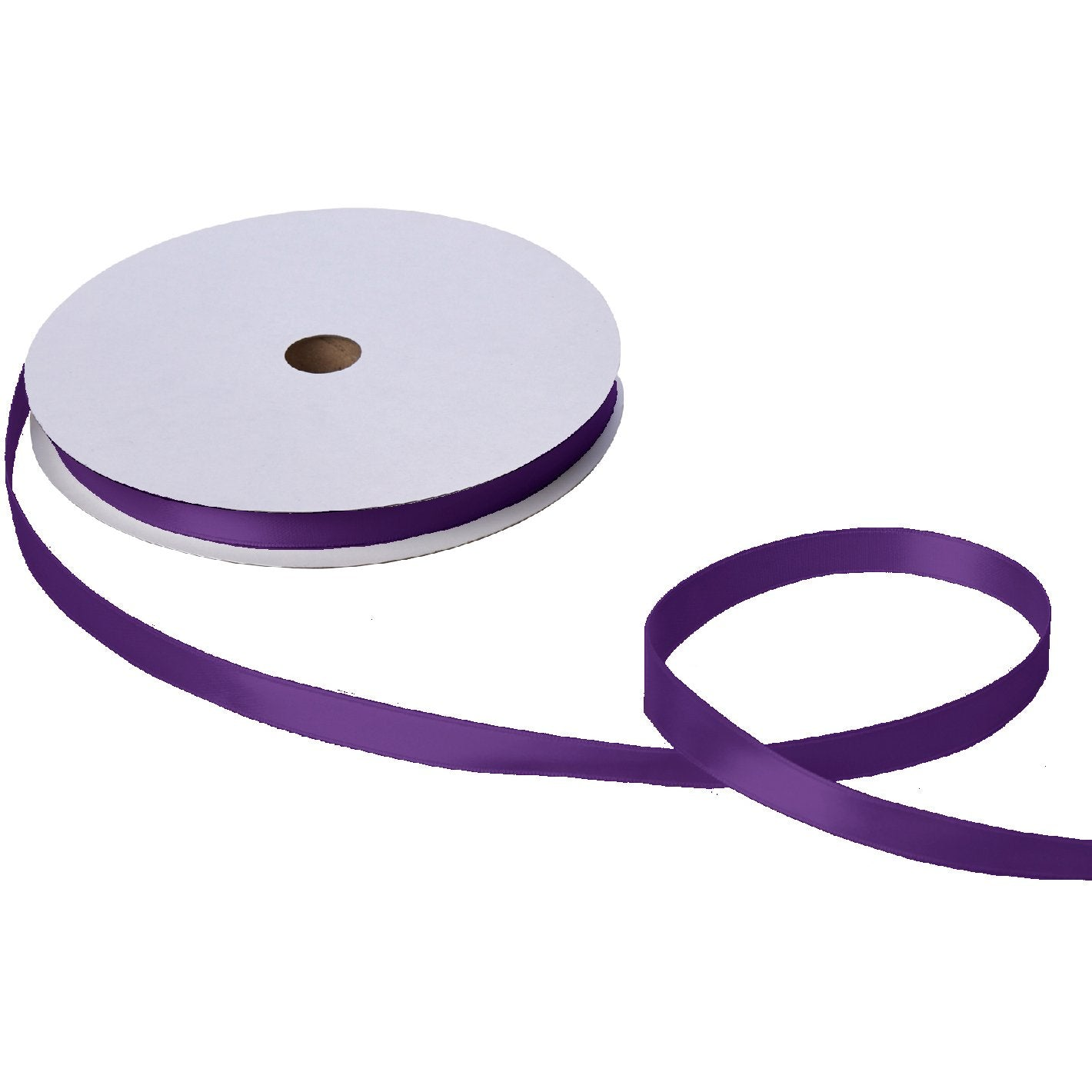 "Jillson & Roberts Double-Faced Satin Ribbon, 5/8"" Wide x 100 Yards, Purple"