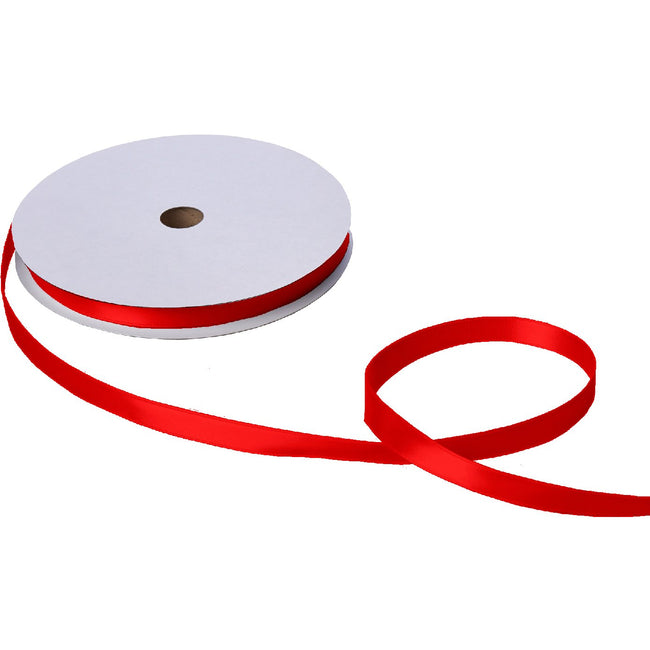 "Jillson & Roberts Double-Faced Satin Ribbon, 5/8"" Wide x 100 Yards, Red"