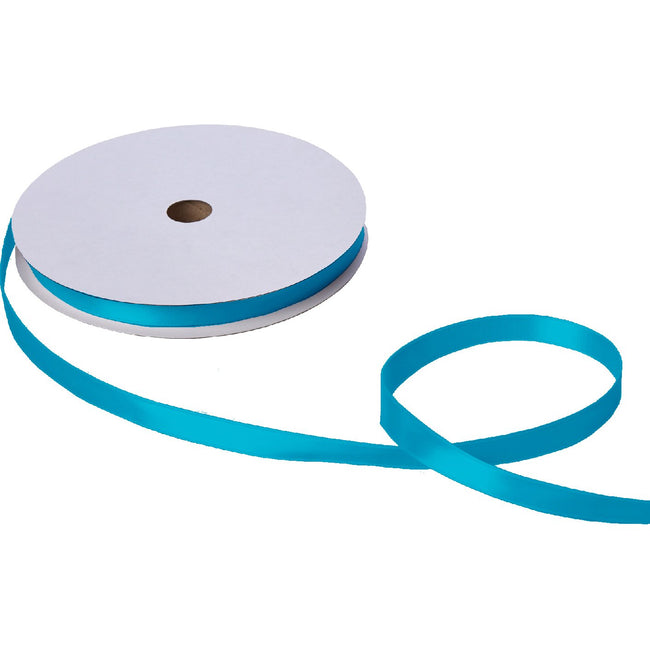 "Jillson & Roberts Double-Faced Satin Ribbon, 5/8"" Wide x 100 Yards, Turquoise"