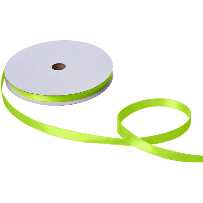 "Jillson & Roberts Double-Faced Satin Ribbon, 5/8"" Wide x 100 Yards, Lime"