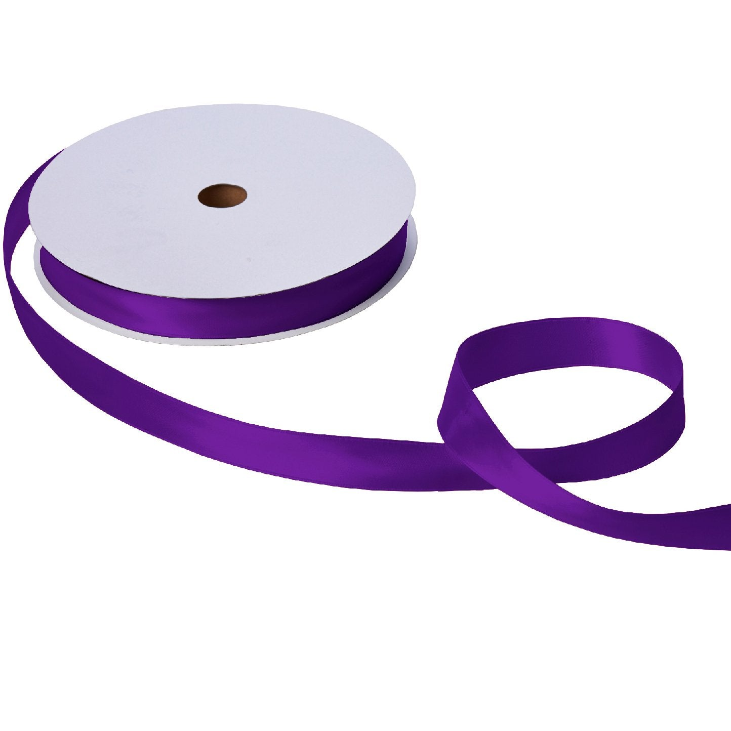 "Jillson & Roberts Double-Faced Satin Ribbon, 1"" Wide x 100 Yards, Purple"