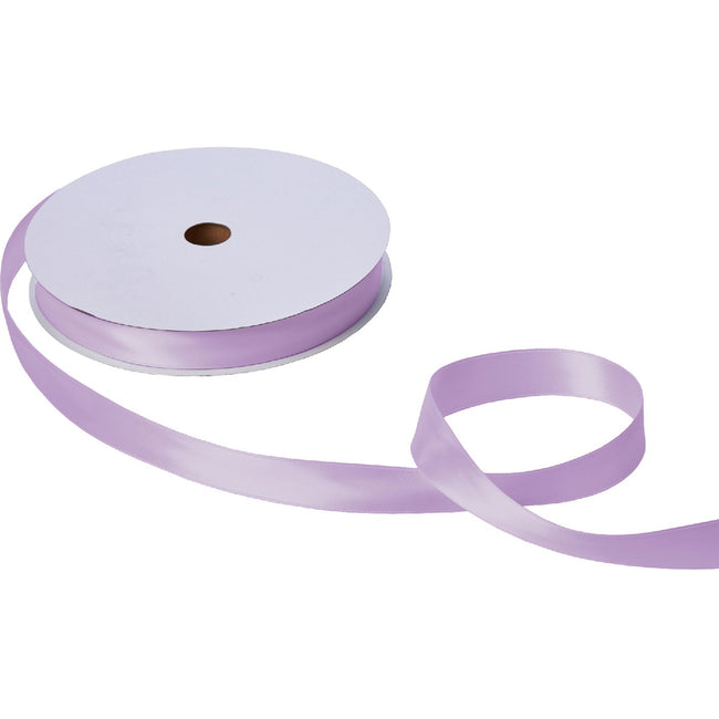 "Jillson & Roberts Double-Faced Satin Ribbon, 1"" Wide x 100 Yards, Lavender"