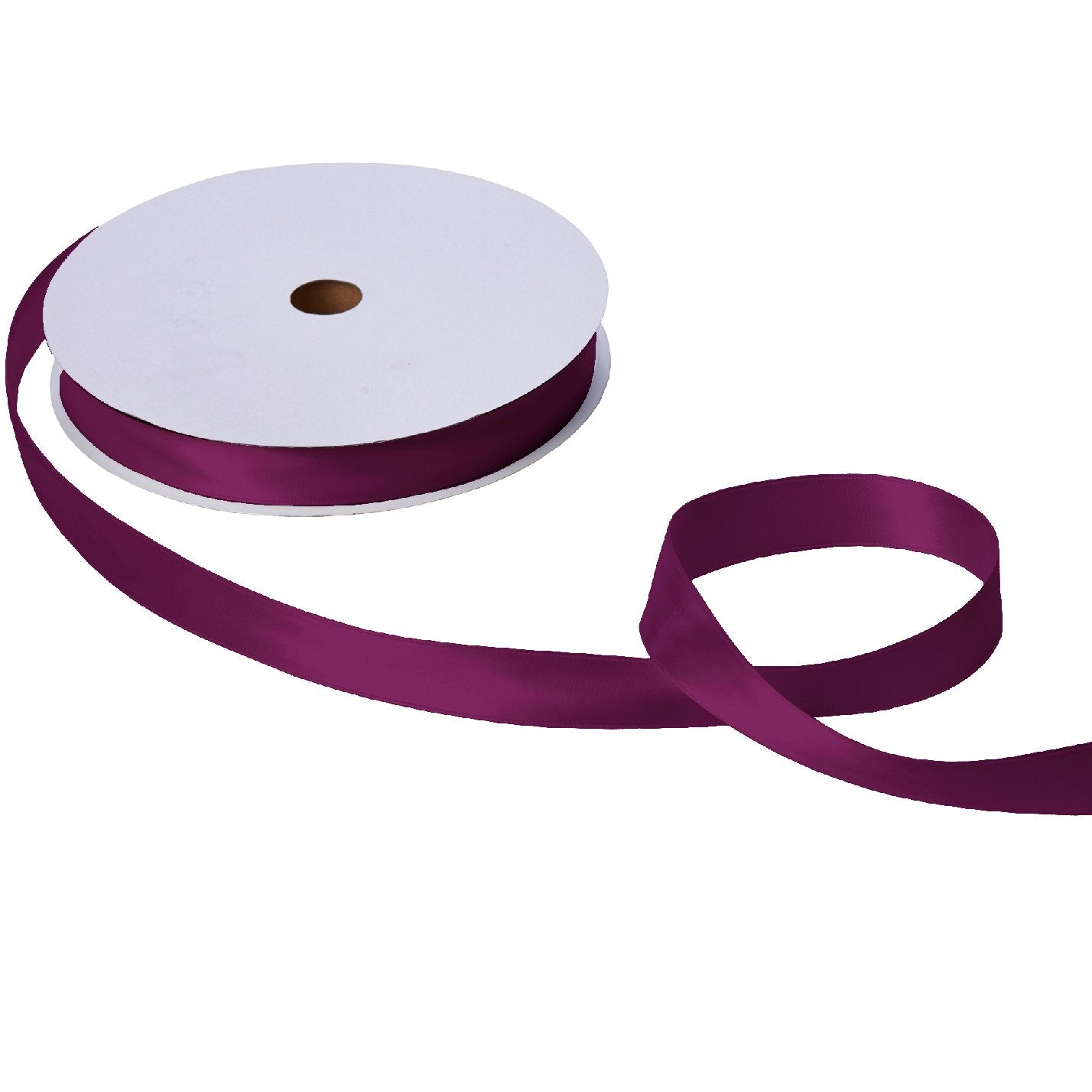 "Jillson & Roberts Double-Faced Satin Ribbon, 1"" Wide x 100 Yards, Burgundy"