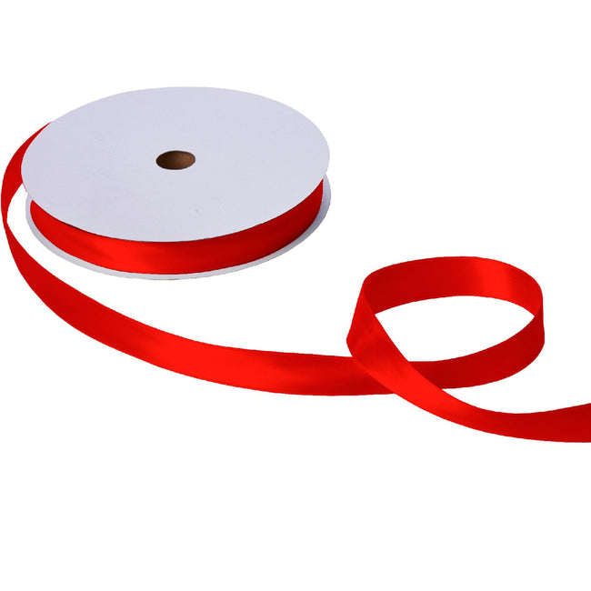 "Jillson & Roberts Double-Faced Satin Ribbon, 1"" Wide x 100 Yards, Red"