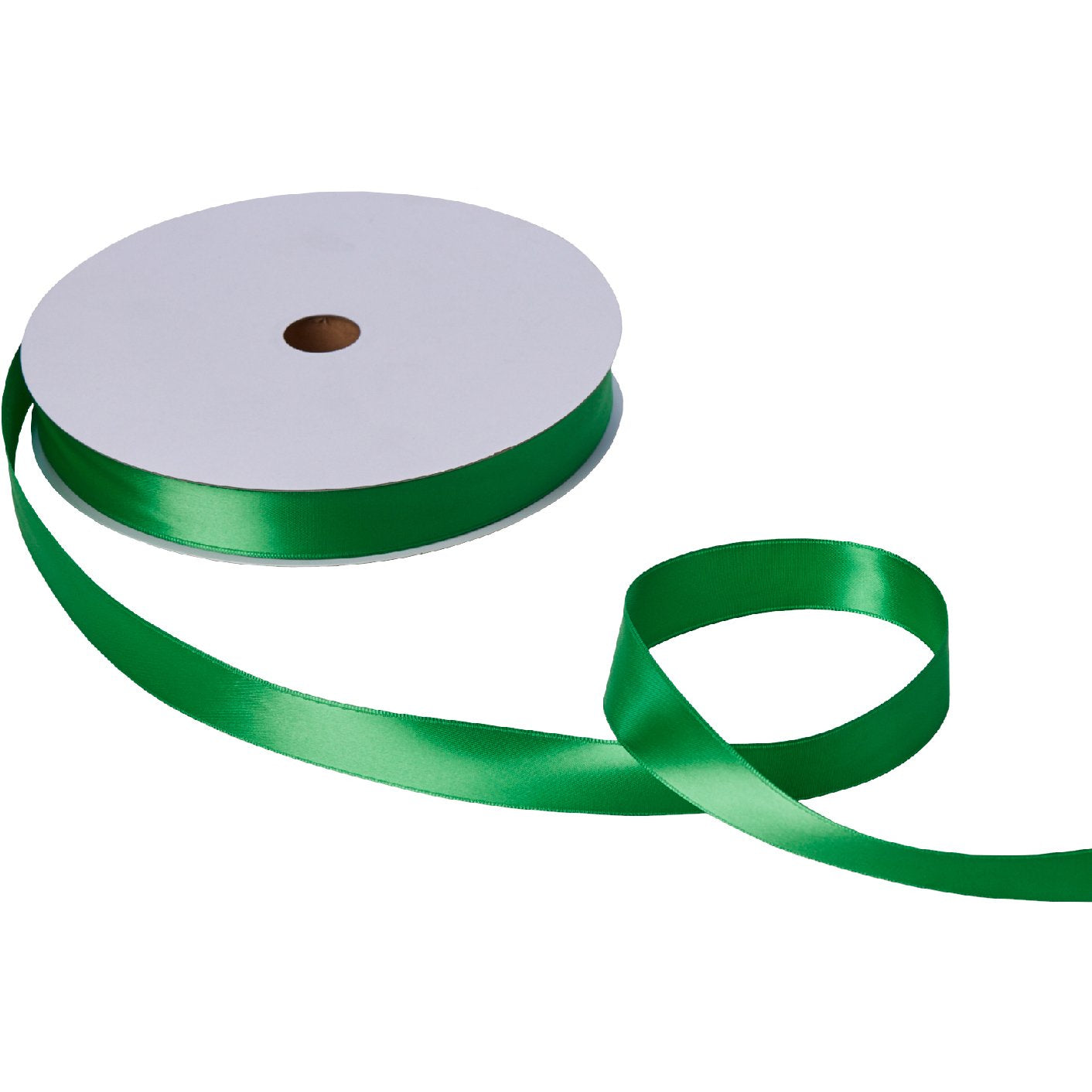 "Jillson & Roberts Double-Faced Satin Ribbon, 1"" Wide x 100 Yards, Green"