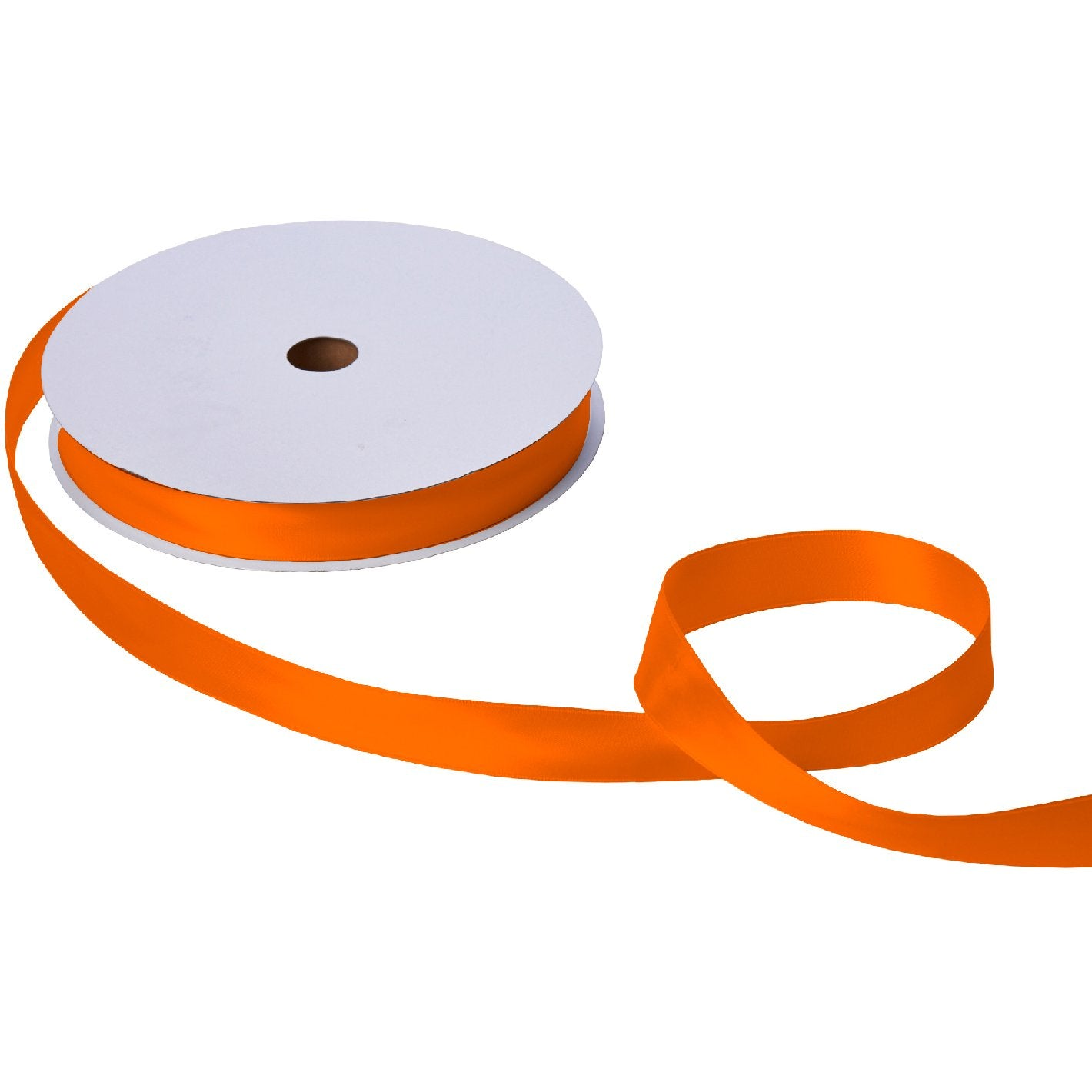 "Jillson & Roberts Double-Faced Satin Ribbon, 1"" Wide x 100 Yards, Orange"