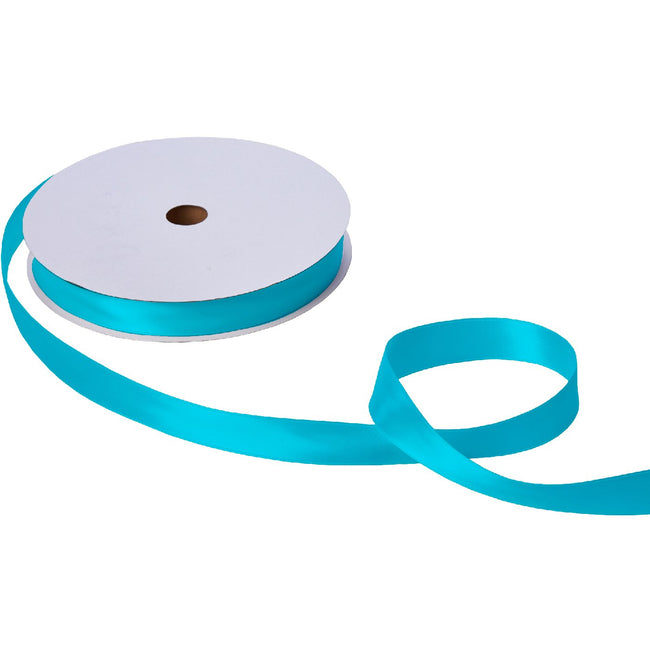 "Jillson & Roberts Double-Faced Satin Ribbon, 1"" Wide x 100 Yards, Turquoise"