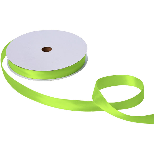 "Jillson & Roberts Double-Faced Satin Ribbon, 1"" Wide x 100 Yards, Lime"