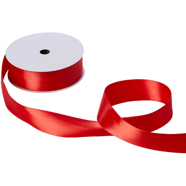 "Jillson & Roberts Double-Faced Satin Ribbon, 1 1/2"" Wide x 50 Yards, Red"