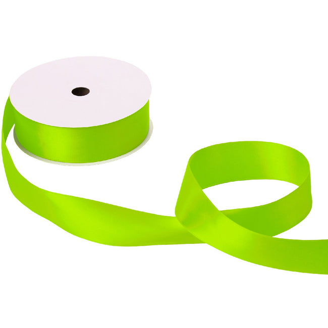 "Jillson & Roberts Double-Faced Satin Ribbon, 1 1/2"" Wide x 50 Yards, Lime"