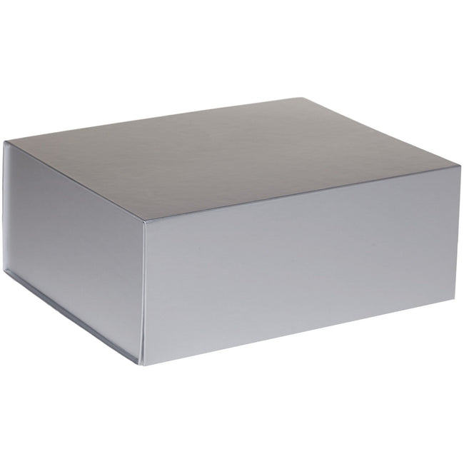 Jillson & Roberts Large Gift Box with Magnetic Closure, Metallic Silver Matte (12 Pcs)