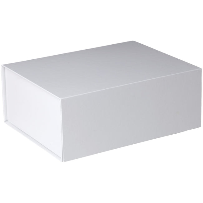 Jillson & Roberts Large Gift Box with Magnetic Closure, White Gloss (12 Pcs)
