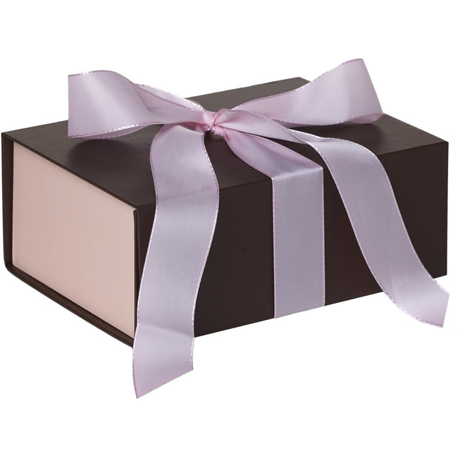 Jillson & Roberts Medium Gift Box with Ribbon Tie, Pink Coco Matte (12 Pcs)