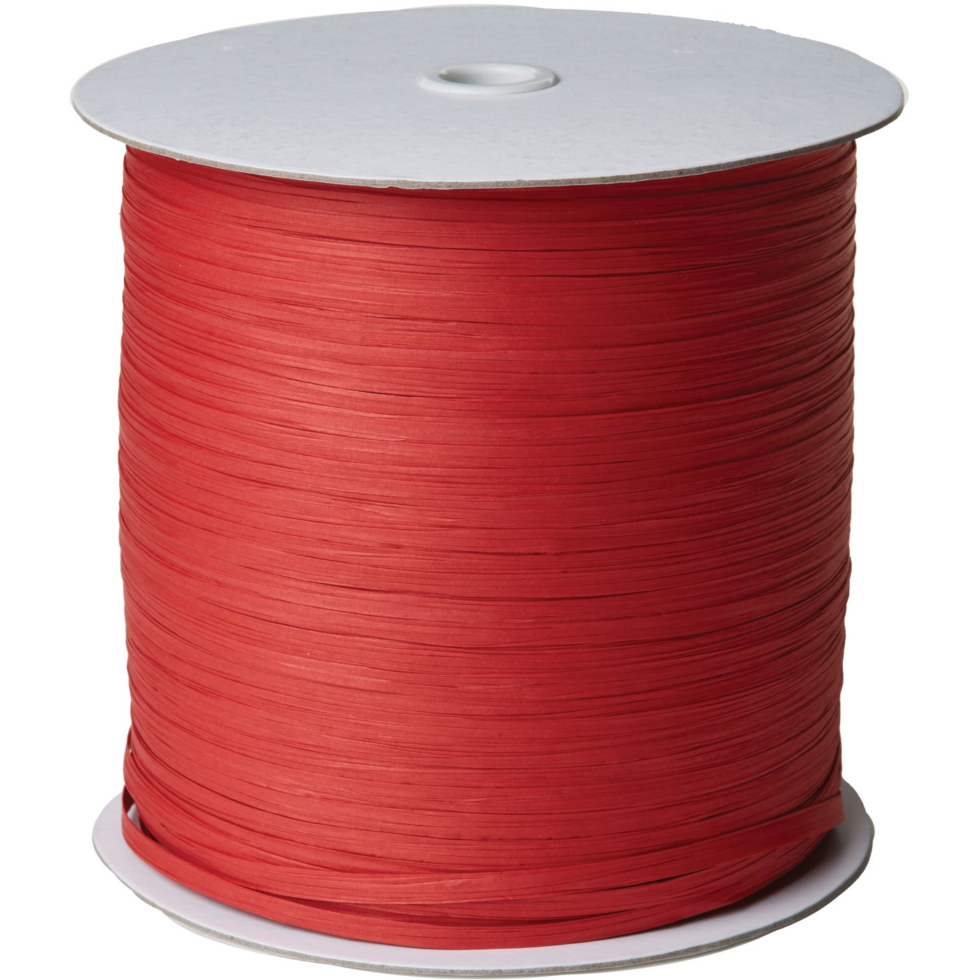 "Jillson & Roberts Paper Raffia Ribbon, 1/4"" Wide x 1000 Yards, Red"