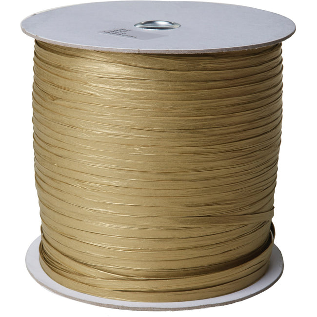 "Jillson & Roberts Paper Raffia Ribbon, 1/4"" Wide x 1000 Yards, Gold"