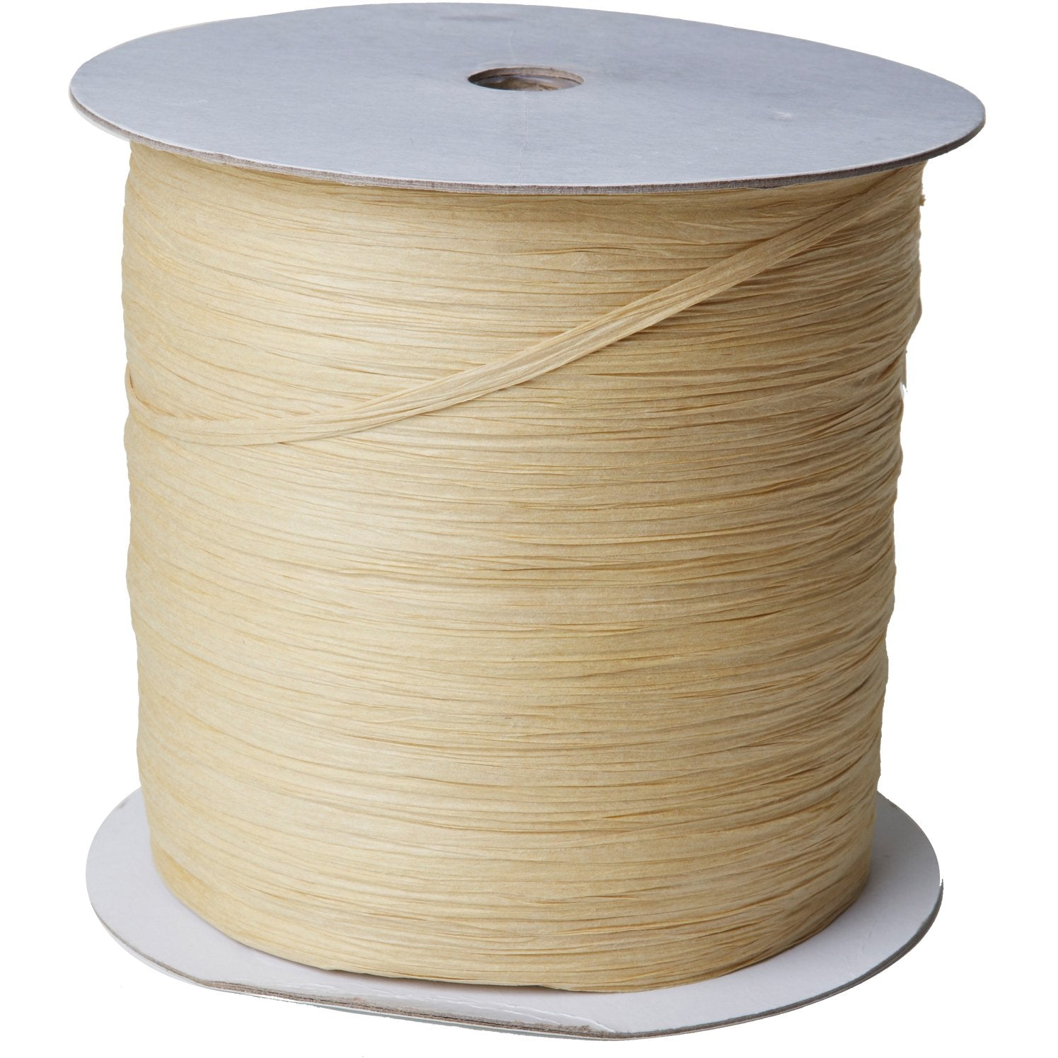 "Jillson & Roberts Paper Raffia Ribbon, 1/4"" Wide x 1000 Yards, Natural"