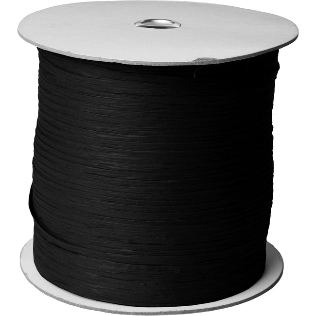 "Jillson & Roberts Paper Raffia Ribbon, 1/4"" Wide x 1000 Yards, Black"