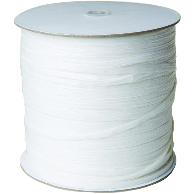 "Jillson & Roberts Paper Raffia Ribbon, 1/4"" Wide x 1000 Yards, White"