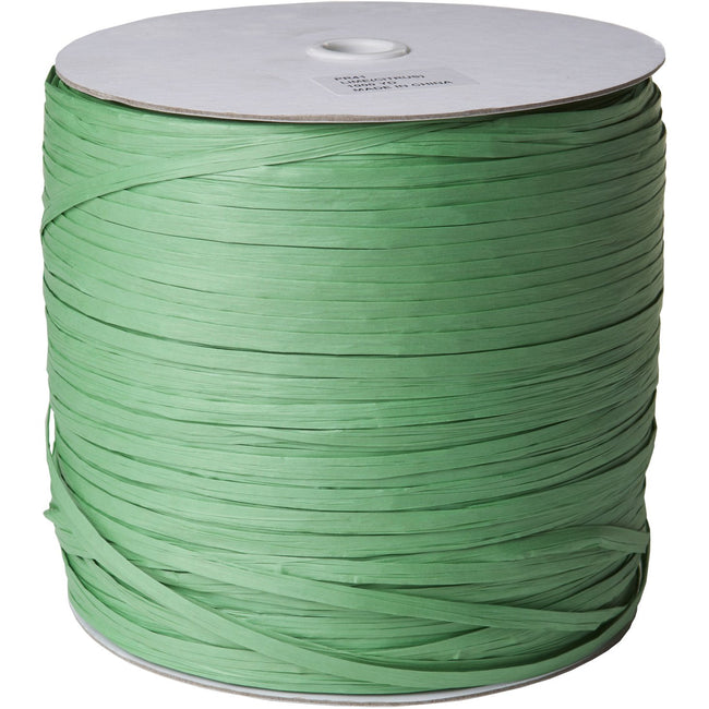 "Jillson & Roberts Paper Raffia Ribbon, 1/4"" Wide x 1000 Yards, Lime"