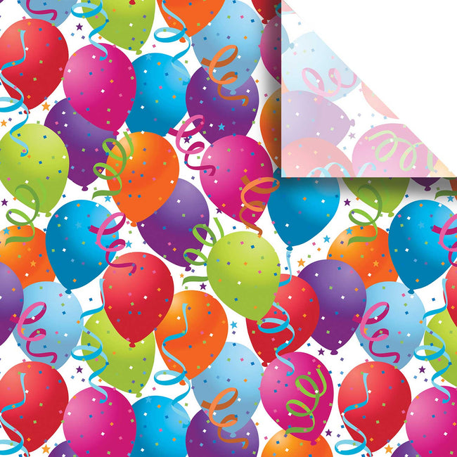 "Bulk Pack Birthday Design Gift Tissue Paper 20"" x 30"", Balloons, 240 Sheets"